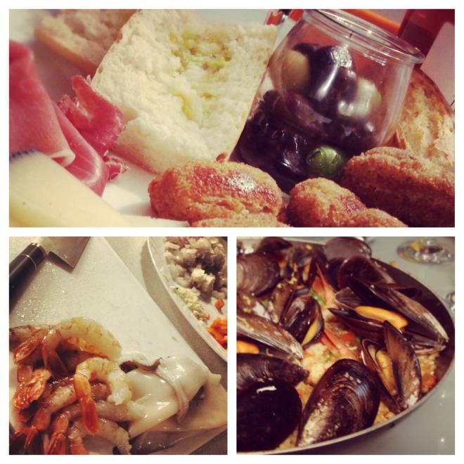 L'apéro et une paella maison: on mange trop bien en Espagne! Photo: Kim Gradek