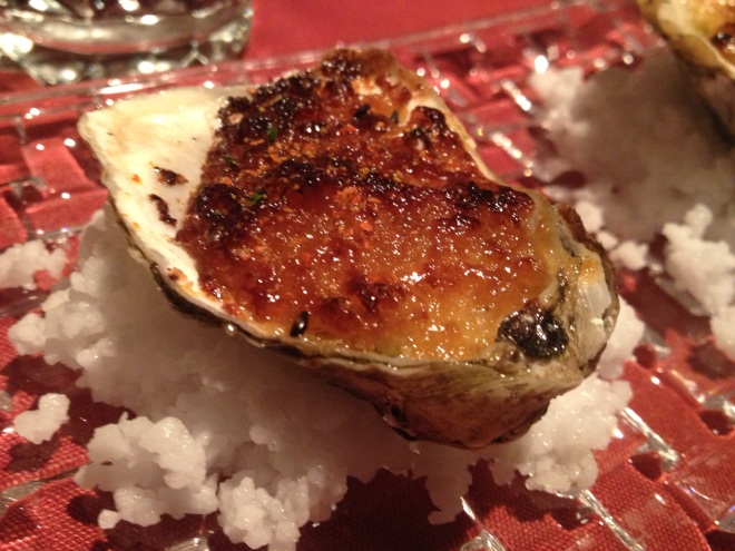 The Miso Gratin Oyster at le Filet- Photo by Kim Gradek