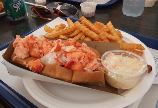 Chez Camille serves up lobster rolls packed with crustacean meat!- Photo: Kim Gradek